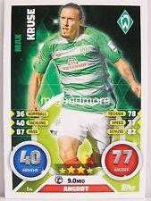 Match Attax 2016/17 Bundesliga - #054 Max Kruse - SV Werder Bremen