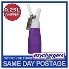 PURPLE EZYWHIP CREAM WHIPPER 0.25L DISPENSER GUN N2O NITROUS OXIDE BULBS CHARGER