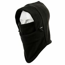Fleece Windproof Ski Face Mask Balaclavas Hood Black