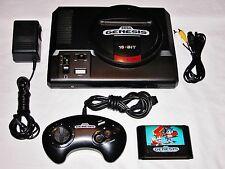 Sega Genesis 1 16 Bit Mega System Console + Sonic 2, Controller Hookups, Bundled