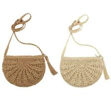 Tassels Retro Woven Beach Handbags Fringed Crochet Straw Shoulder Crossbody Bag