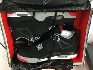 Nike Air Jordan 4 Retro    Black/Grey/Red UK size 10