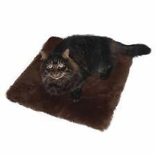 New listing Lambskin Cat Pillow Braun Bed Pet Real Merino Sheepskin 00006000  17 11/16x17 11/16in
