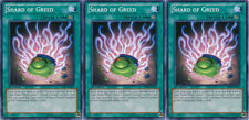 3x Yugioh YSYR-EN037 Shard of Greed Common Card