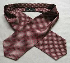 Ascot Cravat MENS Vintage Retro Casual Neckwear DARK RED