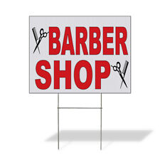 Weatherproof Yard Sign Barber Shop Red C Lawn Garden Salon Amp Spa