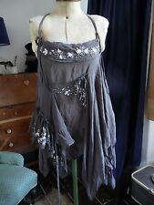 All Saints Mekai SILK beaded embellished Boho Festival parachute summer top sz8