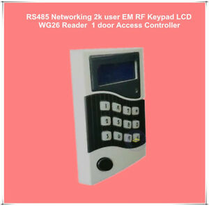 RS485 Networking 2k user EM RF Keypad LCD WG26 reader 1 door access controller