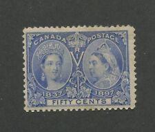 Queen Victoria 1897 Canada 50c Stamp #60 Scott Value $375