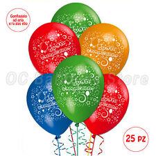 Palloncini compleanno festa party animazione bombola elio lattice bambini 25pz