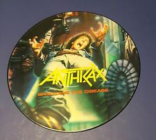 """Anthrax Spreading The Disease Picture Disc LP record 1985 Music For Nations 12"""""""