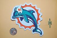 """Miami Dolphins Left Face 4"""" Retro Primary Logo  1997-2012 Patch FOOTBALL"""