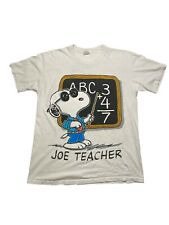 Vintage Joe Teacher Cool Snoopy Double Sided T Shirt Size XL