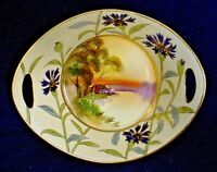 Antique Nippon Hand-Painted Scenic 2-Handled Bowl-Excellent Condition