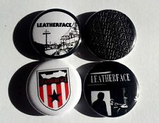 "4 x Leatherface 1"" Pin Button Badges ( punk sunderland frankie stubbs music )"