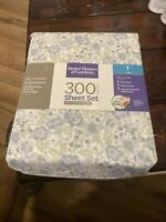 Better Homes & Gardens 300 Thread Count 3-PC Twin Sheet Set 100% Cotton Sateen