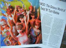 8p History Article + Pics -  VTG Mattel TNT Twist N Turn Barbie & Hair Styles
