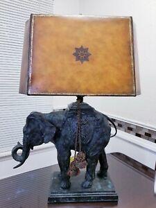 Maitland Smith Bronze ELEPHANT Table Lamp.