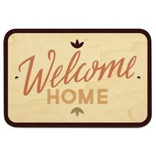 "Welcome Home 9"" x 6"" Wood Sign"