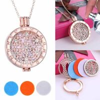 Charm Aromatherapy Essential Oil Diffuser Locket Pendant Necklace Perfume Gifts