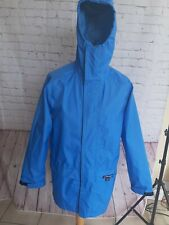 Berghaus Mistral Goretex Vintage Raincoat Jacket Size S Blue