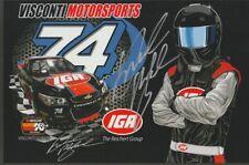 2018 Brandon McReynolds signed IGA Chevy SS NASCAR K&N postcard