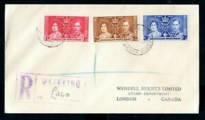 Bechuanaland Protectorate - 1937 KGVI Coronation Registered Cover