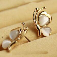 Mujer Pendientes De Botón Aretes Pendiente Mariposa Stud Earrings Regalo Chicas