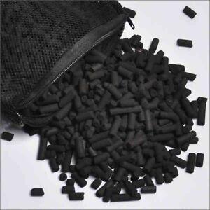Activated Charcoal Carbon Pellets in Free Mesh Media Bag for Aquarium Fish Tank