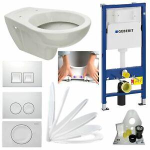 Geberit Duofix Vorwandelement + Design WC + Drückerplatte