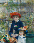 Two Sisters On The Terrace Auguste Renoir Painting Repro Print on Canvas Giclee