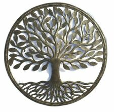 Organic Tree of Life 23 x 23 inch, Decorative Wall Hanging Art, Metal Sculpture