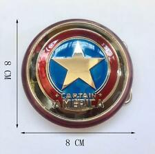 Superhero Captain America Shield Metal  Marvel Avengers  Movie  Belt Buckle