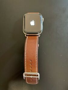 Apple Watch Series 4 Hermes 44mm Stainless Steel Barenia Leather