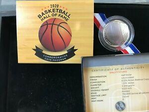 2020-D Basketball Hall of Fame Commemorative Clad Half Dollar Coin BU OGP