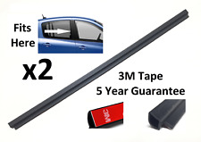 2x Left + Right Rear Side Glass Seal for Renault Clio 3 Door 8200341503 Pair