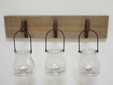 New Tea Light Wall Mounted Sconce Candle Holder Hurricane Lanterns Glass Jars B