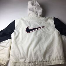 Vintage Nike Puffer Coat Winter Jacket 90s Big Swoosh Spell Out White Tag Medium