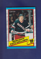 Brian Leetch Highlights HOF 1989-90 O-PEE-CHEE OPC Hockey #326 (MINT) Rangers