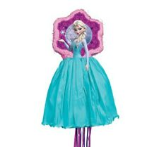 Frozen Elsa and Olaf Pull Pinata Birthday Party Bash Mexican Game Decoration New