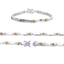 Sterling Silver Champagne Diamond Bracelet (0.50 CT)