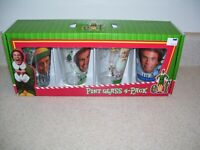 Elf Movie Pint Glass 4 Pack Buddy Christmas Holiday Drinkware Collectible 1302