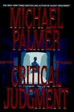 Critical Judgement by Michael Palmer (1996, Hardcover)