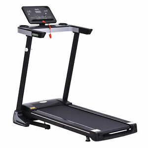 HOMCOM Treadmill Electric 1-12Km/h Motorized Power Folding Running Machine