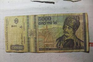 ROMANIA 5000 LEI 1993 534125
