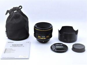 [Optics Mint with Hood, Porch] Nikon NIKKOR AF-S 58mm F/1.4G from JAPAN