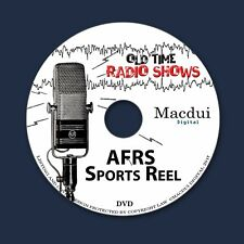 AFRS Sports Reel Old Time Radio Shows 17 OTR MP3 Audio Files on 1 Data DVD