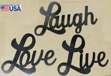 Live Laugh Love Wall Art. Set of 3 Metal Steel Signs Great Gifts!