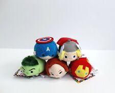 """Lot of 5 Disney Mini tsum tsum Marvel The Avengers Characters Plush 3.5"""""""