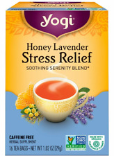 New Yogi Tea Organic Honey Lavender Stress Relief Caffeine Free 16 Bags BB 02/22